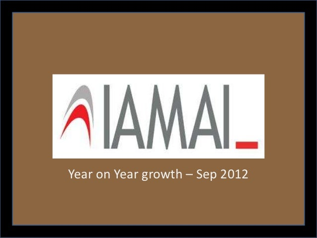 Year on Year growth – Sep 2012