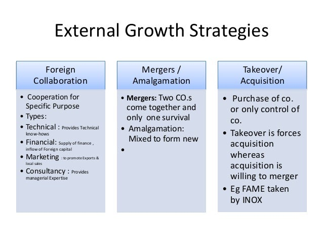 business growth strategies Analysis of business growth strategies and their  the role of growth strategies to the business  a growth strategy based on product development is the.