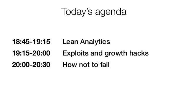 Growth Tribe: Alistair Croll startup workshop Lean Analytics & Growth Hacking Slide 2