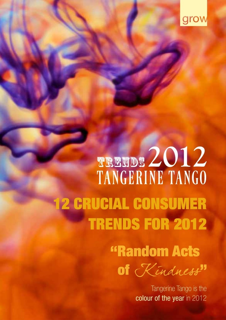 2 Trends 2012. Tangerine Tango                                                                     Trends 2012. Tangerine ...