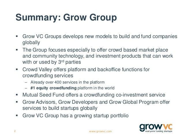 Grow VC Group Presentation Slide 2