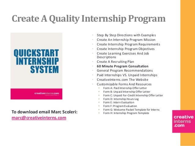grow your business create a quality internship program