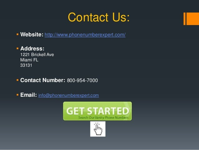 Get Your Vanity Phone Number; 7.