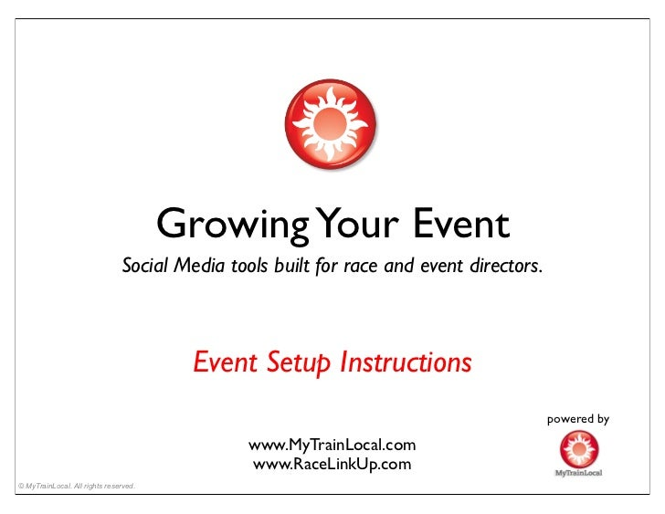 Growing Your Event                               Social Media tools built for race and event directors.                   ...