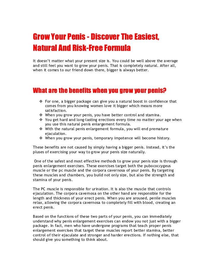 How To Make You Dick Grow