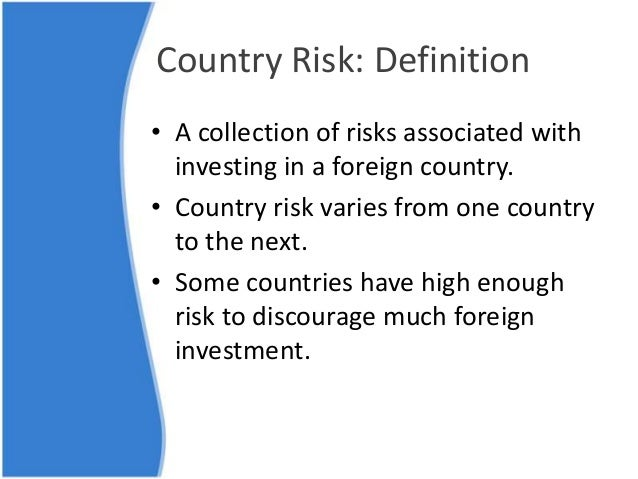 Country Risk & Sovereigns