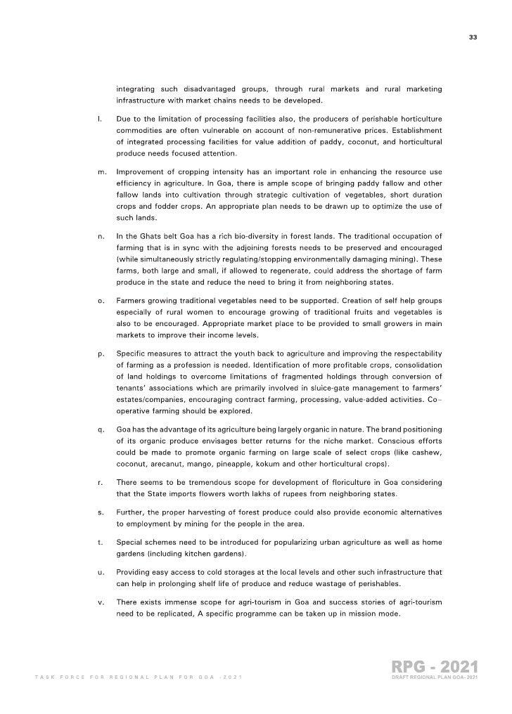 Goa Regional Plan 2021 part 3