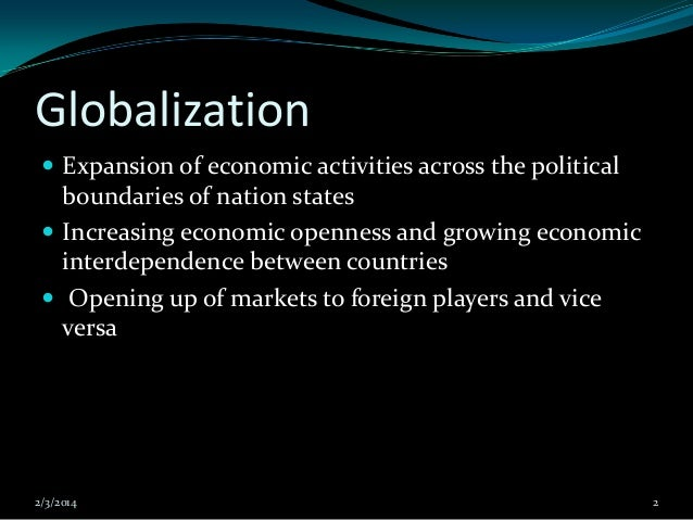 what is one of the downsides of increasing economic interdependence