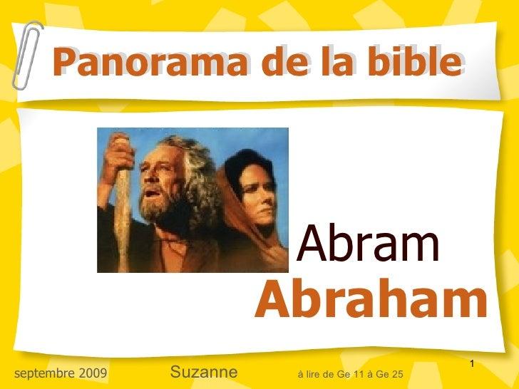 Panorama de la bible                                Abram                            Abraham                              ...