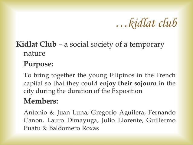kidlat club Posts about kidlat tahimik written by drdanielojones and republicofcinema  or on my tiptoes and enjoy the view of other sketchy hotels and gentlemen's clubs.