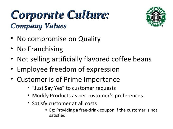 culture and artifacts of starbucks View essay - bus 610week1_organizational_culture_analysis_05sept2016 (1) from bus 600 at ashford university running head: culture analysis 1 organizational culture.
