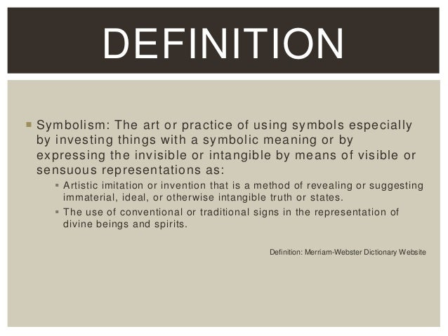 Image result for art symbolism definition