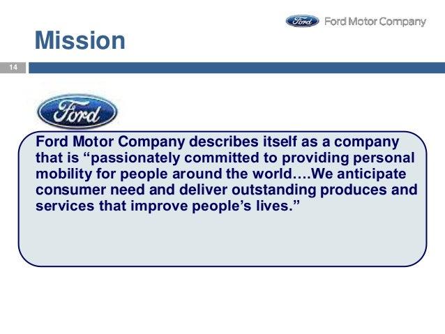Ford Motor Company Objectives