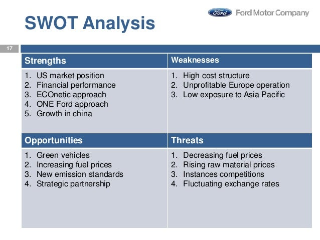 Strategy management of ford motor company Ford motor company financials
