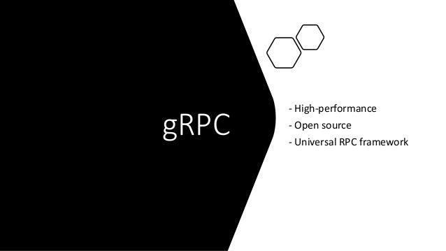gRPC - High-performance - Open source - Universal RPC framework