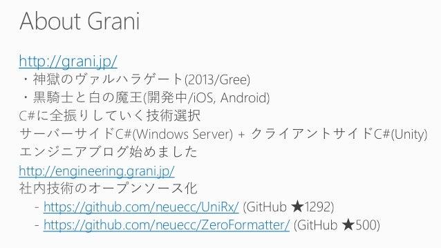 NextGen Server/Client Architecture - gRPC + Unity + C# Slide 2