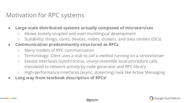 Full Stack Engineer >> gRPC Design and Implementation