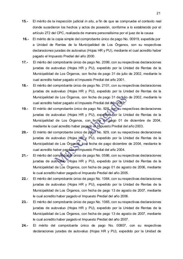 2115.-   El mérito de la inspección judicial in situ, a fin de que se compruebe el contexto real       donde sucedieron lo...