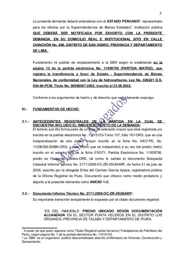 MODELO DE DEMANDA DE PRESCRIPCIÓN ADQUISITIVA DE DOMINIO  Slide 3