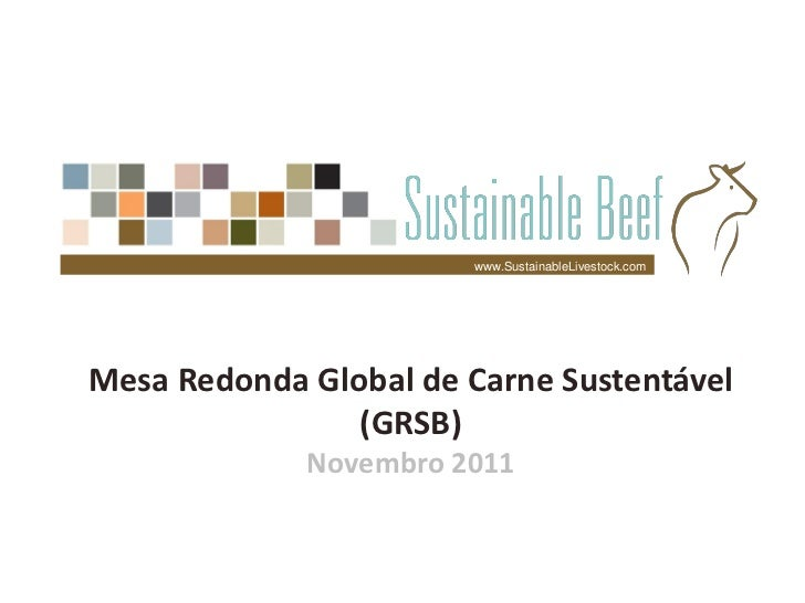 www.SustainableLivestock.comMesa Redonda Global de Carne Sustentável                (GRSB)             Novembro 2011