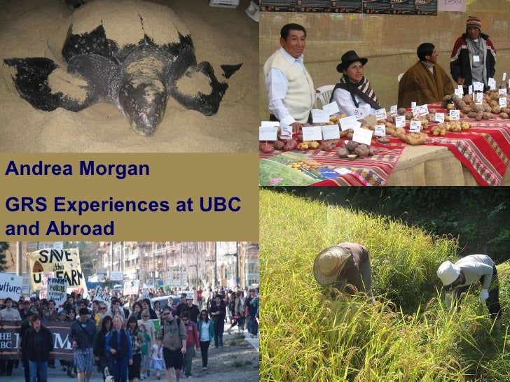 Andrea Morgan GRS Experiences at UBC and Abroad