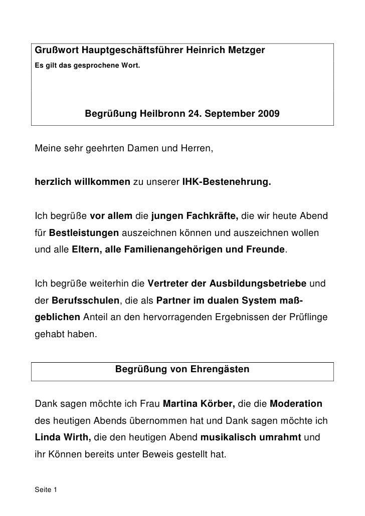 Grußwort Hauptgeschäftsführer Heinrich MetzgerEs gilt das gesprochene Wort.             Begrüßung Heilbronn 24. September ...