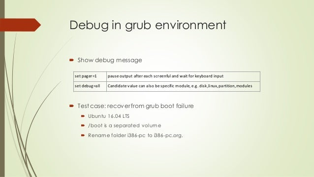 Grub2 Booting Process