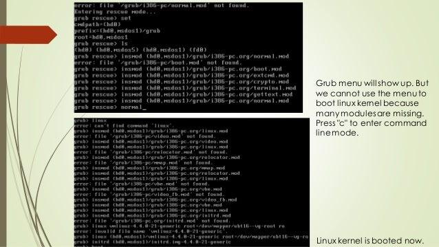 Grub2 Booting Process