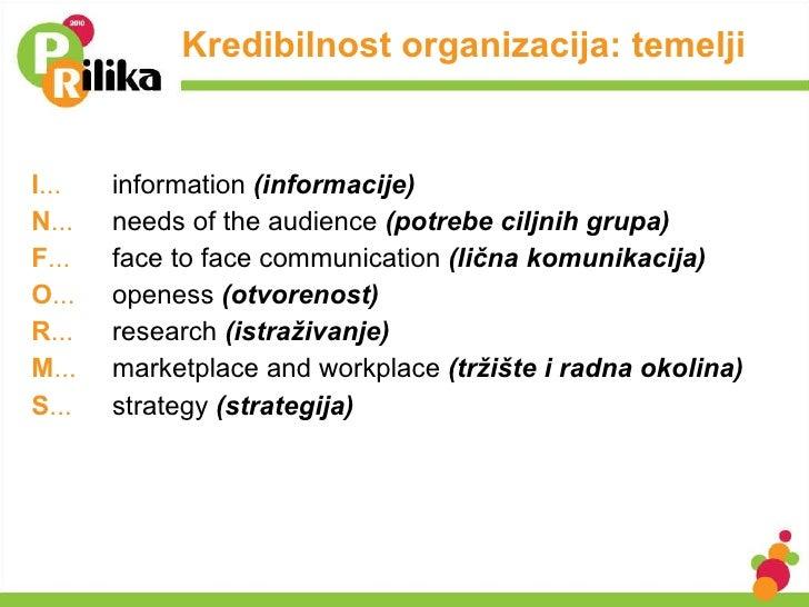 <ul><li>I ... information  (informacije) </li></ul><ul><li>N ... needs of the audience  (potrebe ciljnih grupa) </li></ul>...