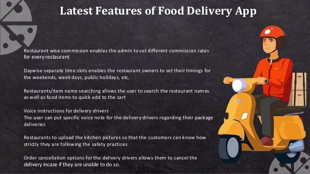 Latest Features of Food Delivery App Restaurant wise commission enables the admin to set different commission rates for ev...