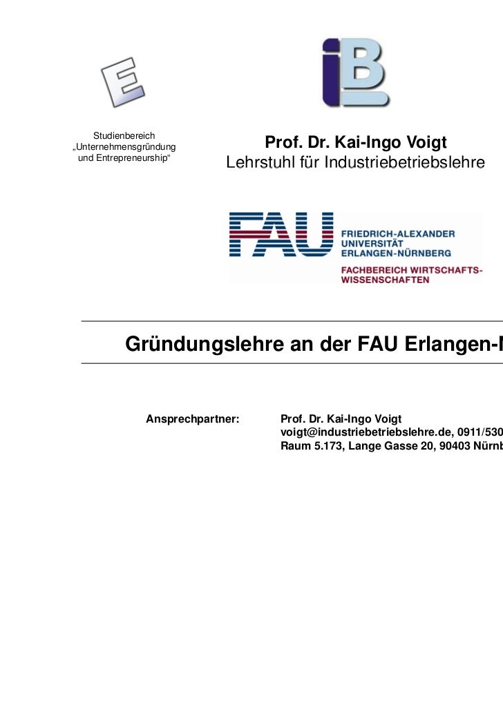 """Studienbereich                                                                  EXIST III Projekt""""Unternehmensgründung    ..."""