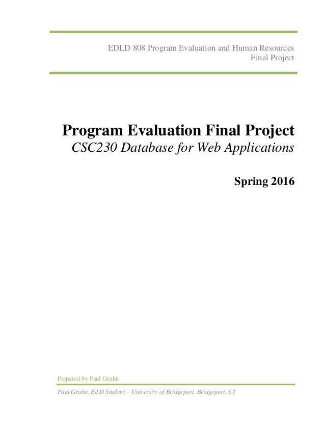 edld808 program evaluation final project final paper - online educati…