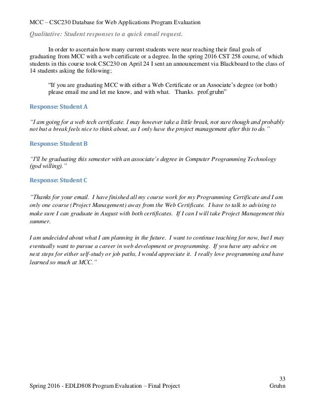 Assessment for educators culminating project essay