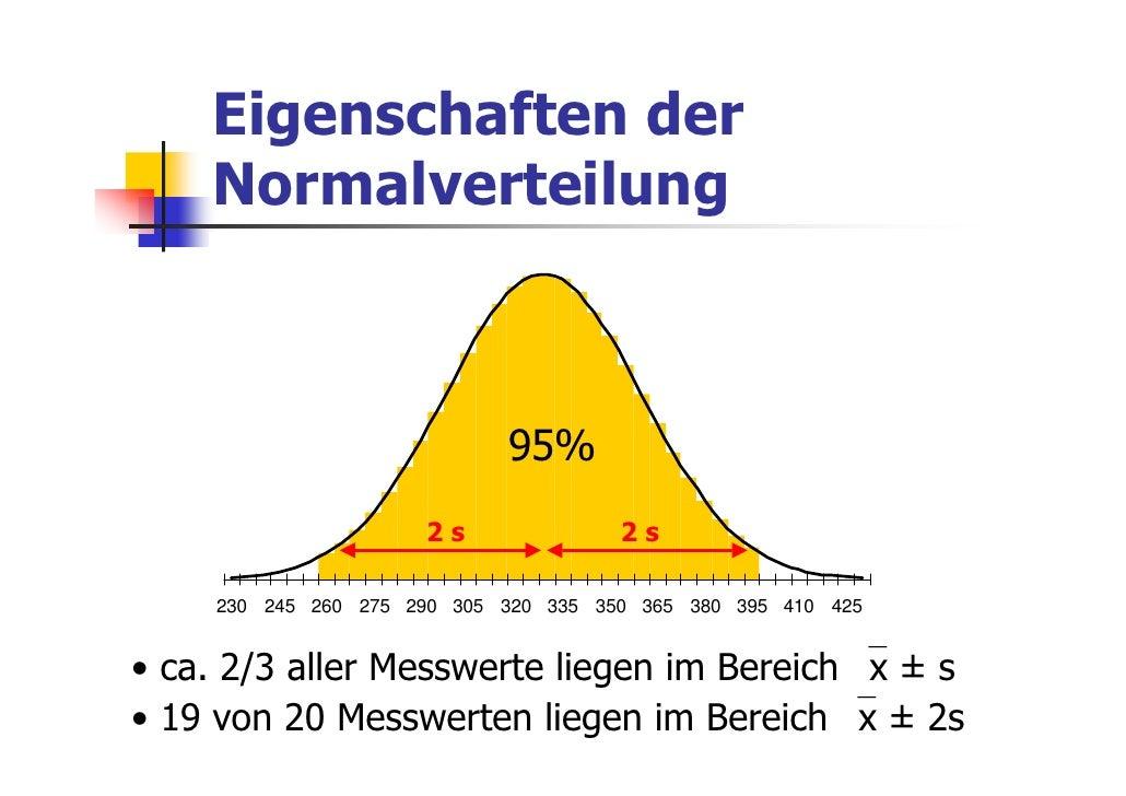 Eigenschaften der    Normalverteilung                            s                                95%s                    ...