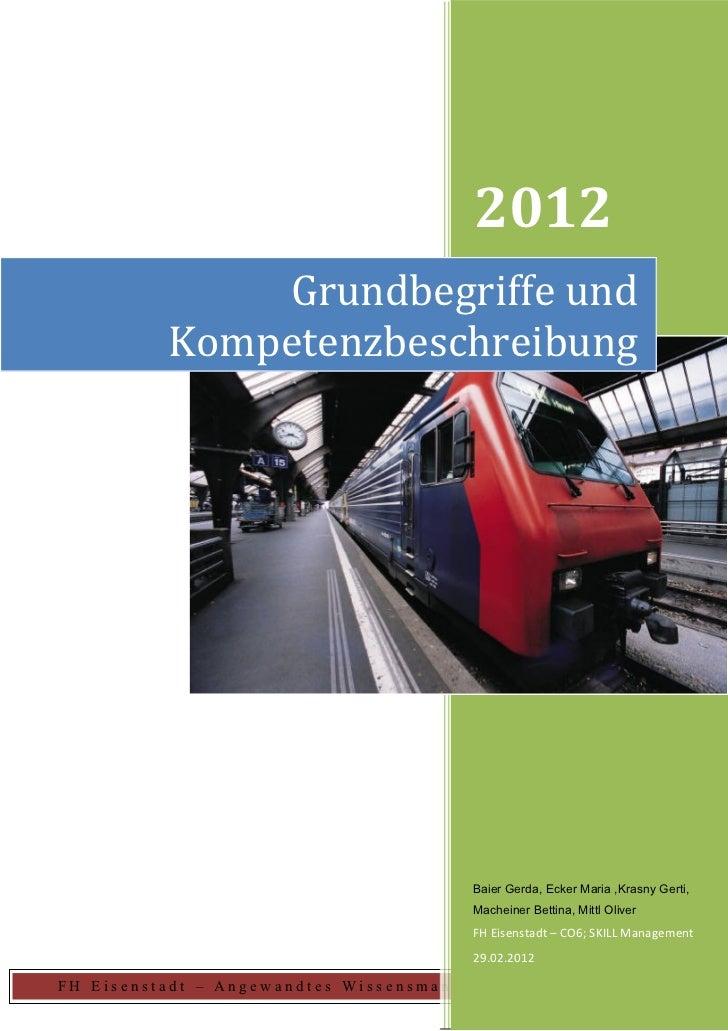 2012              Grundbegriffe und          Kompetenzbeschreibung                                        Baier Gerda, Eck...