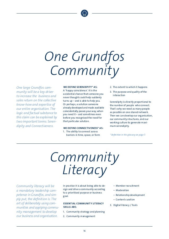 One Grundfos Community One large Grundfos community will be a key driver to increase the business and sales return on the ...
