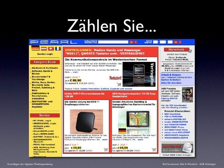Zählen Sie...     Grundlagen der digitalen Mediengestaltung                   Ralf Stockmann, Nils K. Windisch - SUB Götti...
