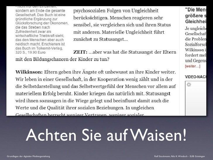 Achten Sie auf Waisen! Grundlagen der digitalen Mediengestaltung   Ralf Stockmann, Nils K. Windisch - SUB Göttingen