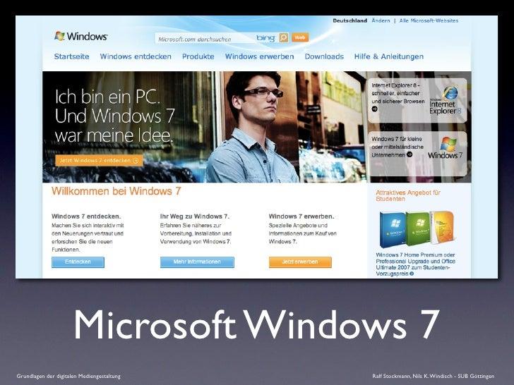 Microsoft Windows 7 Grundlagen der digitalen Mediengestaltung   Ralf Stockmann, Nils K. Windisch - SUB Göttingen