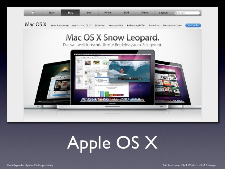 Apple OS X Grundlagen der digitalen Mediengestaltung                Ralf Stockmann, Nils K. Windisch - SUB Göttingen