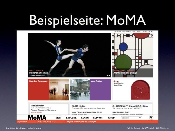 Beispielseite: MoMA     Grundlagen der digitalen Mediengestaltung   Ralf Stockmann, Nils K. Windisch - SUB Göttingen