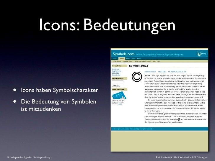 Icons: Bedeutungen        •       Icons haben Symbolscharakter       •       Die Bedeutung von Symbolen              ist m...