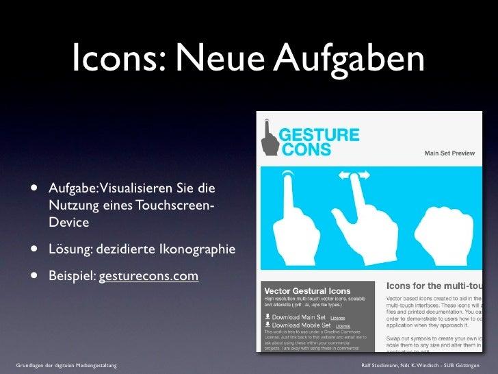Icons: Neue Aufgaben        •       Aufgabe:Visualisieren Sie die              Nutzung eines Touchscreen-              Dev...