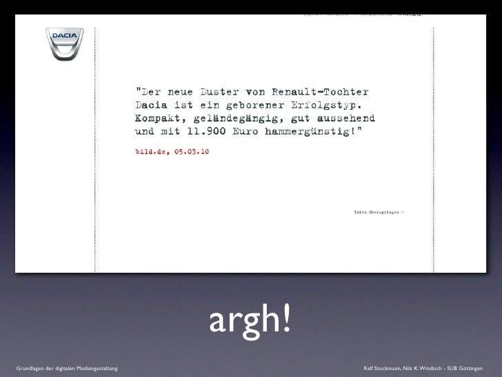 argh! Grundlagen der digitalen Mediengestaltung           Ralf Stockmann, Nils K. Windisch - SUB Göttingen