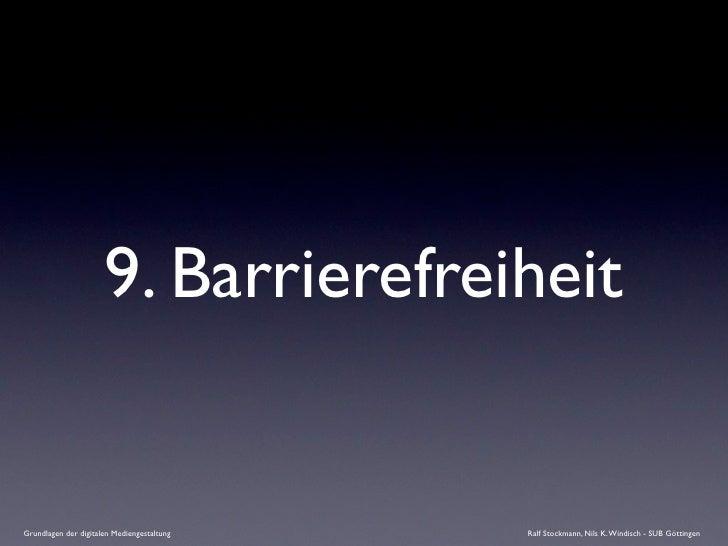 9. Barrierefreiheit   Grundlagen der digitalen Mediengestaltung   Ralf Stockmann, Nils K. Windisch - SUB Göttingen