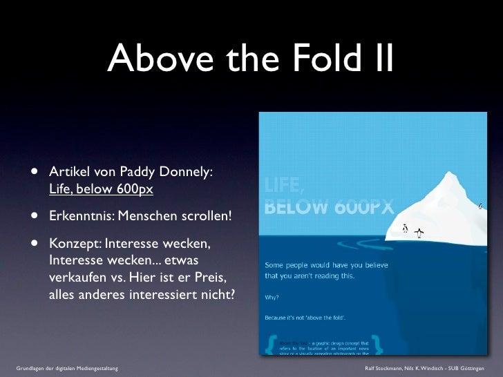 Above the Fold II       •       Artikel von Paddy Donnely:              Life, below 600px       •       Erkenntnis: Mensch...