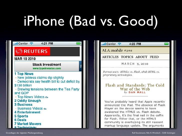 iPhone (Bad vs. Good)     Grundlagen der digitalen Mediengestaltung   Ralf Stockmann, Nils K. Windisch - SUB Göttingen