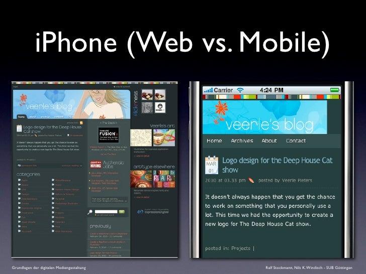 iPhone (Web vs. Mobile)     Grundlagen der digitalen Mediengestaltung   Ralf Stockmann, Nils K. Windisch - SUB Göttingen