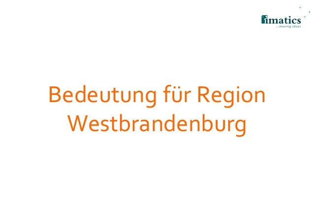 Bedeutung für Region Westbrandenburg