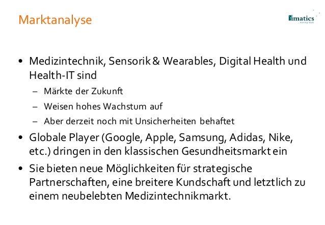 Marktanalyse • Medizintechnik, Sensorik & Wearables, Digital Health und Health-IT sind – Märkte der Zukunft – Weisen hohes...